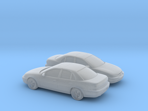 1/160 2X 1994-99 Opel Omega in Smooth Fine Detail Plastic