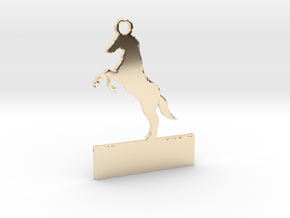 Custom horse keychain in 14k Gold Plated Brass