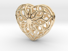 Valentine Heart - Big in 14K Yellow Gold