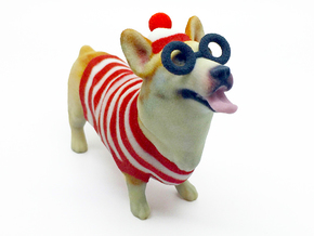 Waldo Corgi in Full Color Sandstone