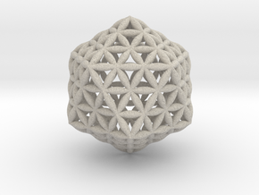 Flower Of Life Icosahedron in Natural Sandstone