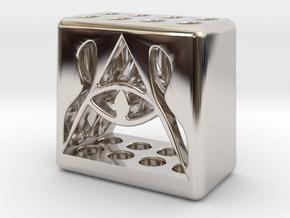 Illuminati 8 Pen Holder in Platinum