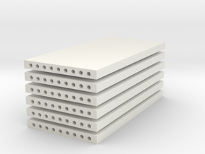 'N Scale' - (6) Precast Panel - 20'x10'x1' in White Natural Versatile Plastic