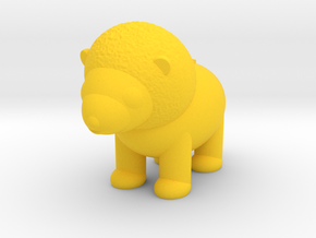 Lion (Nikoss'Animals) in Yellow Processed Versatile Plastic