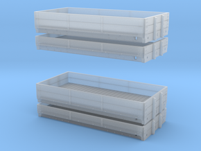 3mm LNWR D1 and D2 Wagons in Smooth Fine Detail Plastic