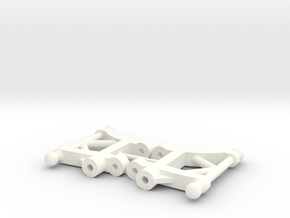Atomic AMZ 2wd Rear lower arms in White Strong & Flexible Polished