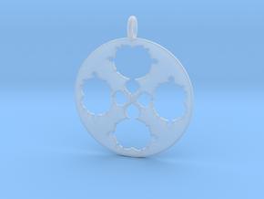 Mandelbrot Clover Pendant in Smoothest Fine Detail Plastic