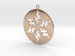Julia Star Pendant in 14k Rose Gold Plated Brass