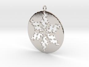 Julia Star Pendant in Rhodium Plated Brass