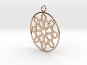 Mandelbrot Web Pendant in 14k Rose Gold Plated Brass