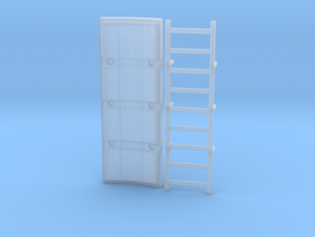 Fake Ladder Wall for the DeAgo Falcon in Smooth Fine Detail Plastic