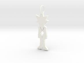 Yugi Pendant in White Processed Versatile Plastic