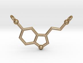 Serotonin Pendant in Polished Gold Steel