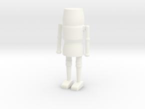 Simple Solid Nutcracker in White Processed Versatile Plastic