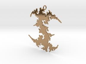 Julia # (Sharp) Pendant in Polished Brass