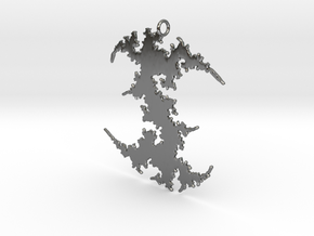 Julia # (Sharp) Pendant in Fine Detail Polished Silver