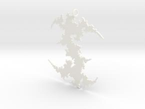 Julia # (Sharp) Pendant in White Processed Versatile Plastic