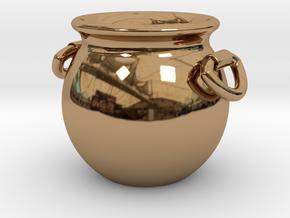 Cauldron Miniature in Polished Brass
