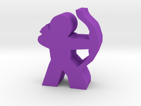 Archer Hero Meeple in Purple Strong & Flexible Polished