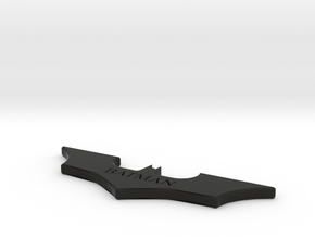 Batarang (Smooth) in Black Natural Versatile Plastic