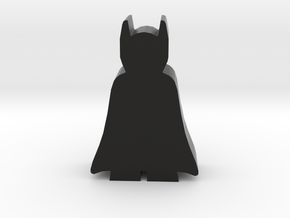 Night Hero Meeple in Black Natural Versatile Plastic