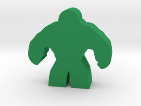Game Piece, Brute Hero Meeple in Green Processed Versatile Plastic