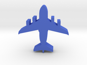 Game Piece, Blue Force Air Transport in Blue Processed Versatile Plastic