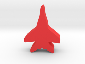 Game Piece, Red Force Fulcrum Fighter in Red Processed Versatile Plastic