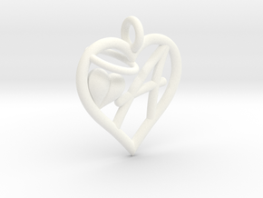 HEART A in White Processed Versatile Plastic