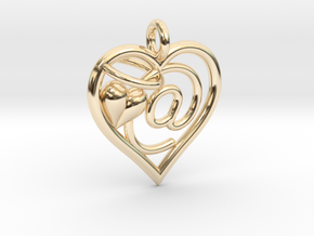 HEART @ in 14K Yellow Gold