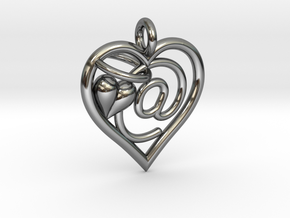 HEART @ in Fine Detail Polished Silver
