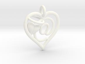 HEART @ in White Processed Versatile Plastic