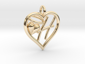 HEART H in 14K Yellow Gold