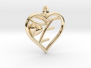 HEART E in 14K Yellow Gold