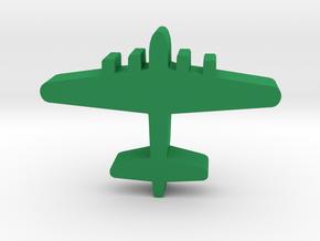Game Piece, WW2 B-17 Bomber in Green Processed Versatile Plastic