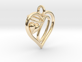 HEART O in 14K Yellow Gold