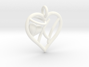 HEART N in White Processed Versatile Plastic