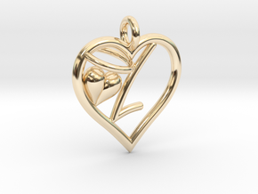 HEART L in 14K Yellow Gold