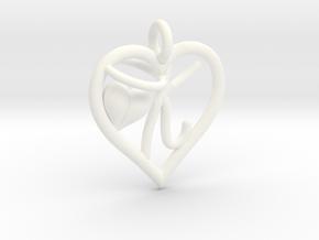 HEART K in White Processed Versatile Plastic