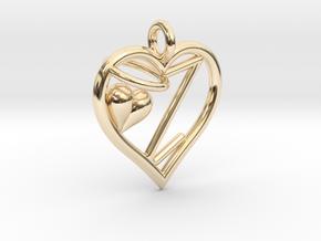 HEART Z in 14K Yellow Gold
