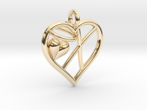 HEART X in 14K Yellow Gold
