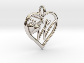 HEART W in Platinum