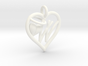 HEART W in White Processed Versatile Plastic