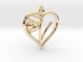 HEART V in 14K Yellow Gold