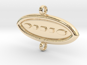 AM Pendant01 in 14k Gold Plated Brass