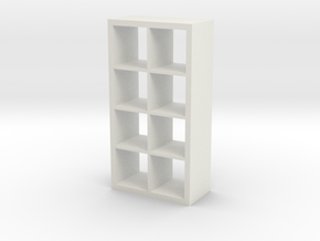 1:24 Modern Bookshelf in White Natural Versatile Plastic