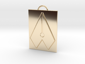 Axial Works™ Symbol: Full Keychain in 14K Yellow Gold
