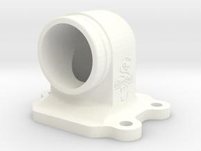 Kreidler Spruitstuk/Ansaugstutzen/Intake Manifold  in White Processed Versatile Plastic