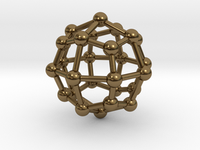 0315 Deltoidal Icositetrahedron V&E (a=1cm) #003 in Polished Bronze