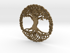 Tree Of Life Pendent  in Polished Bronze
